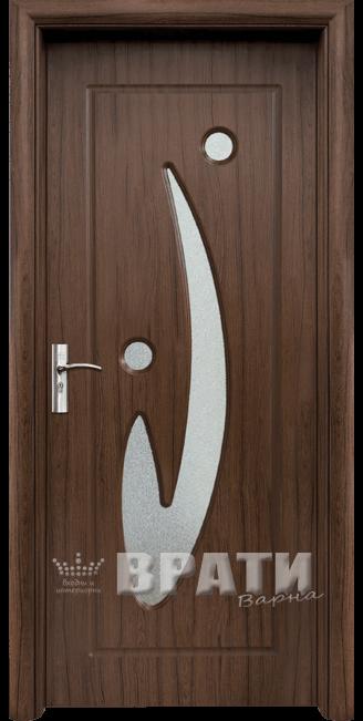 Интериорна HDF врата, модел 070 Орех