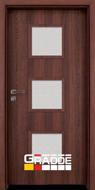 Интериорна HDF врата, модел Gradde Bergedorf, Шведски дъб