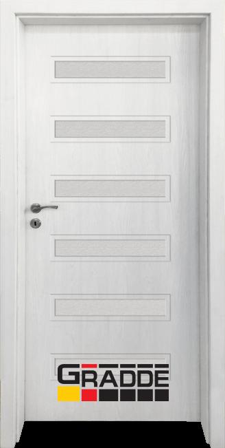 Интериорна HDF врата, модел Gradde Schwerin, Сибирска Лиственица