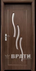 Интериорна HDF врата, модел 014 Орех