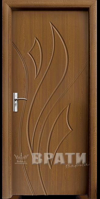 Интериорна HDF врата, модел 033-P Златен дъб