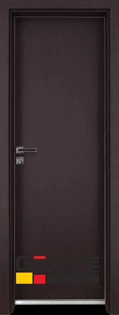 Алуминиева врата за баня – GRADDE цвят Орех Рибейра